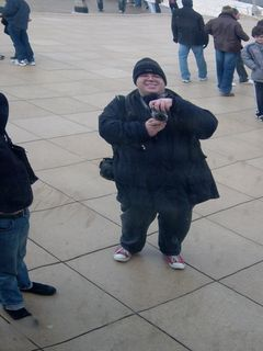 """Leaving Macy's, we went to Millennium Park, where we got to see Cloud Gate, also known as """"the bean"""". We had fun, too, taking photos of the bean, as well as of ourselves in the bean."""