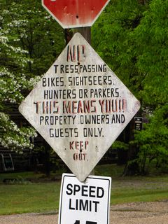 I spotted an additional, hand-painted sign added beneath a stop sign on Gerties Lane, south of Shenandoah Acres in Stuarts Draft, on May 3.