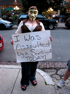 HT was still around, too, and still wearing the Guy Fawkes mask that was forcibly removed from her face. As you can see below, the mask was removed with enough force to cause considerable cracking and buckling.
