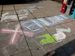The results of our chalking...