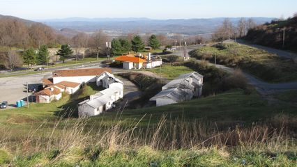Afton Mountain, seen here on November 29, certainly looks different from when I photographed it in 2003. The Howard Johnson's has lost its cupola and its sign, the Skyline Parkway Motel is gone, and now the roof over the tourist information center is starting to deteriorate.