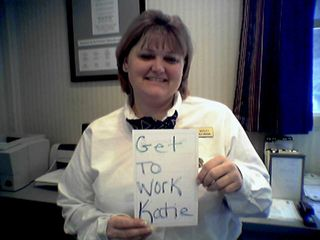 On February 23, I visited Charlottesville to do some transit photography. But first, I went to the Comfort Inn to visit Teri, a friend and former coworker from Wal-Mart. She had a message for Katie, another friend and coworker of mine.