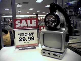 The combination here just makes me wonder a bit. Namely, why would a person want a television and lantern combination? I know I would not want to lug the TV part around when using the device as a lantern, and one can't watch the TV and use the lantern together without shining the light in one's face...