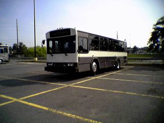 Here's an unusual sight... a Gillig Phantom up on blocks in the parking lot of the Wal-Mart in Manassas on July 20.