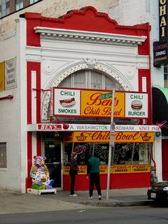 Ben's Chili Bowl on U Street is a DC landmark, which I pointed out to my three travel companions.