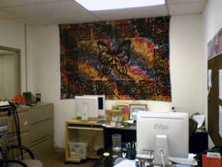 """My office in 2008, shortly after we moved to a new office suite. This was an early photo, considering the white iMac on my desk (I later got a 24"""" aluminum iMac)."""