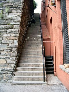"""The """"Exorcist Steps"""" in Georgetown, which was the main reason we went."""