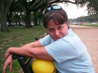 During the summer of 2008, Food & Water Watch sponsored an office volleyball team. These games took place on the National Mall on Wednesday evenings after work. We may have placed last in the competition, but we had loads of fun, and that's what counts in the end...