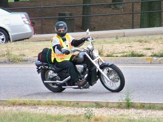 As we left, we got the surprising sight of seeing a Metro employee on a motorcycle taking an on-ramp.