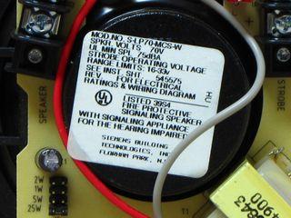 Cerberus Pyrotronics S-LP70-MCS-W, label