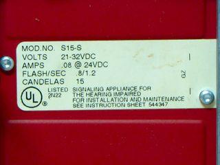 Cerberus Pyrotronics S15-S, label