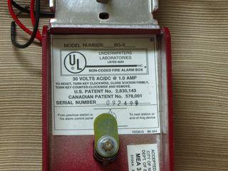 Fire-Lite BG-8, label