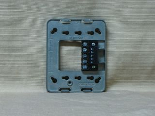 Gentex GES24-15/75WR, wiring plate without strobe unit, front