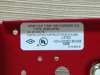 Simplex 2099-9756, label