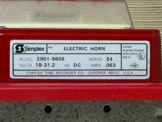 Simplex 2901-9806, label