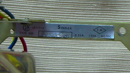 Simplex 4263-10, label