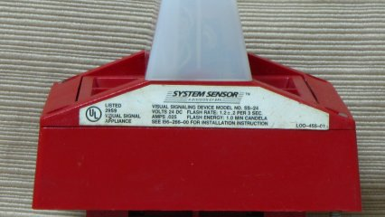System Sensor MA-SS-24, strobe label