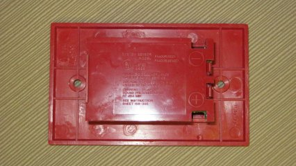 System Sensor PA400R, label (part of the back plate)