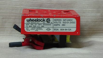 Wheelock 34T-24, standard Wheelock label