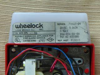 Wheelock 7002T-24, label