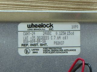 Wheelock CWHT-24, label
