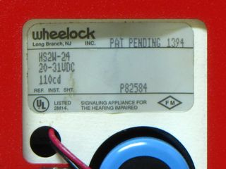 Wheelock HS2W-24, label