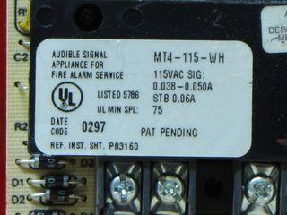 Wheelock MT4-115-WH, label