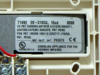 Wheelock RSS-2415, label
