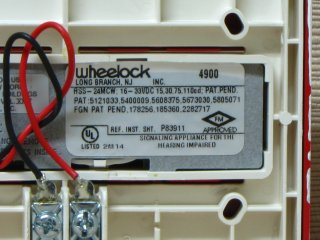 Wheelock RSS-24MCW, label