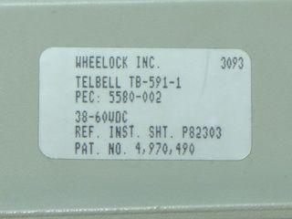 Wheelock TB-591-1, label
