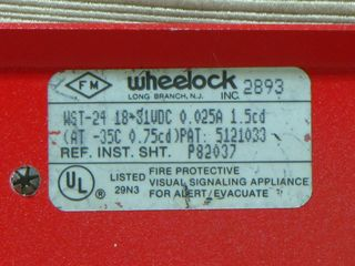 Wheelock WST-24, label