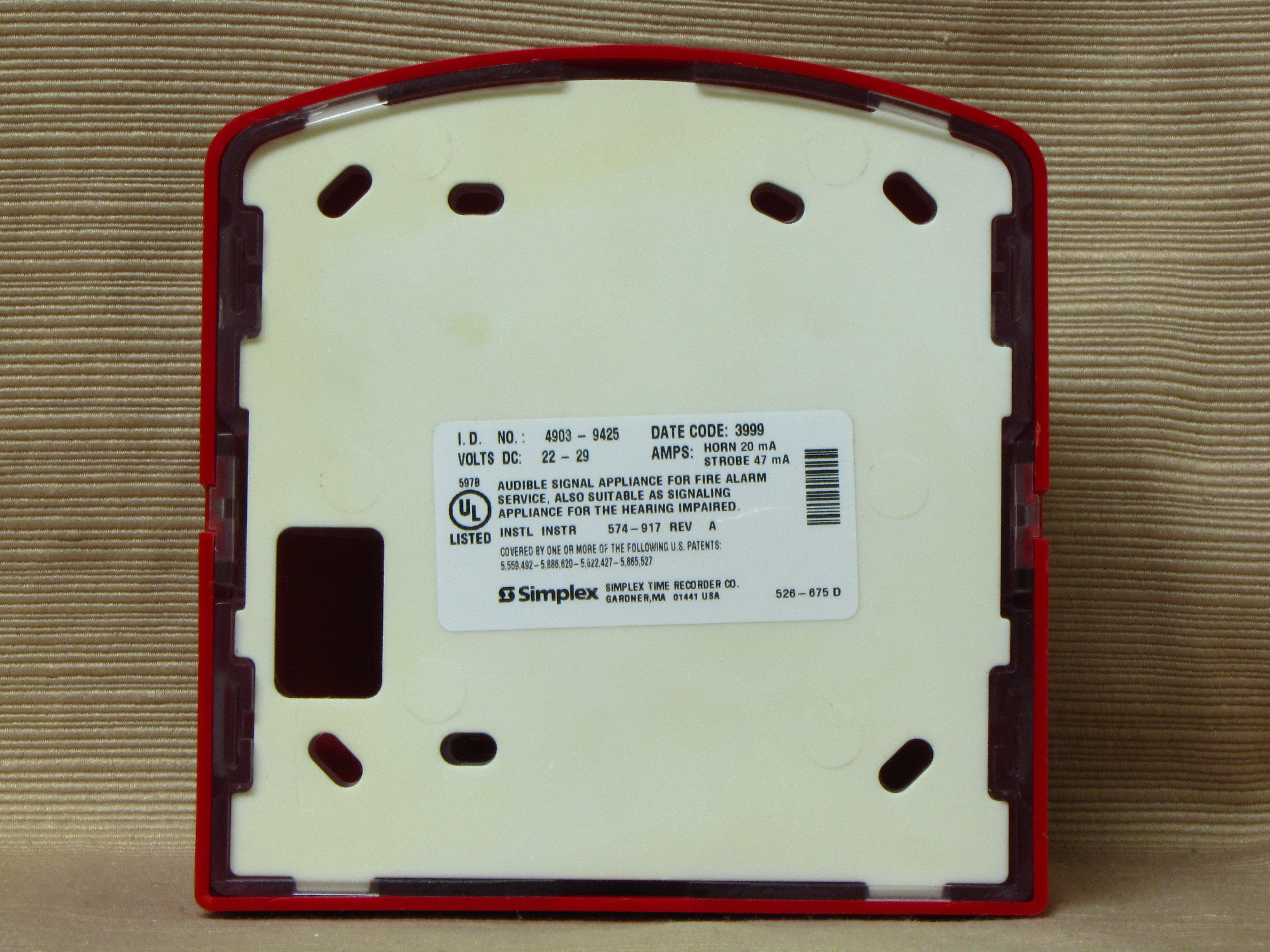 Simplex 4903 9425 additionally Simplex additionally Simplex 2098 9201 in addition Simplex 4903 9425 additionally Fire Strobe. on simplex 4903 9425