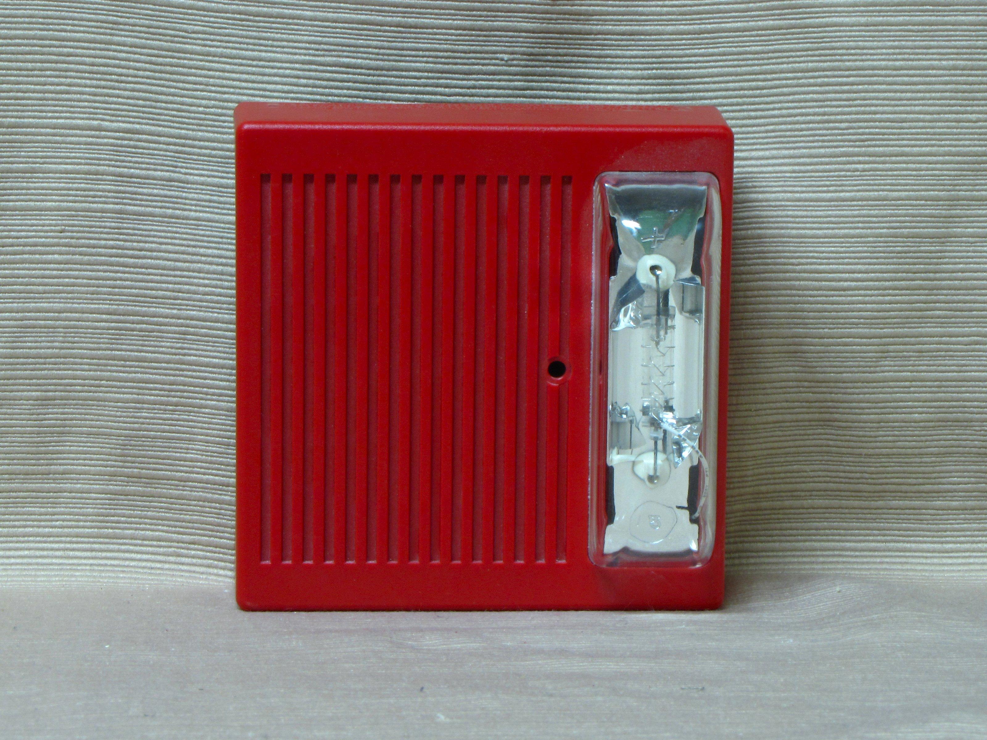 Wheelock 24VDC Horn Strobe Model HSRC Ceiling-Mount Red  |Wheelock Fire Alarm Horn Strobe