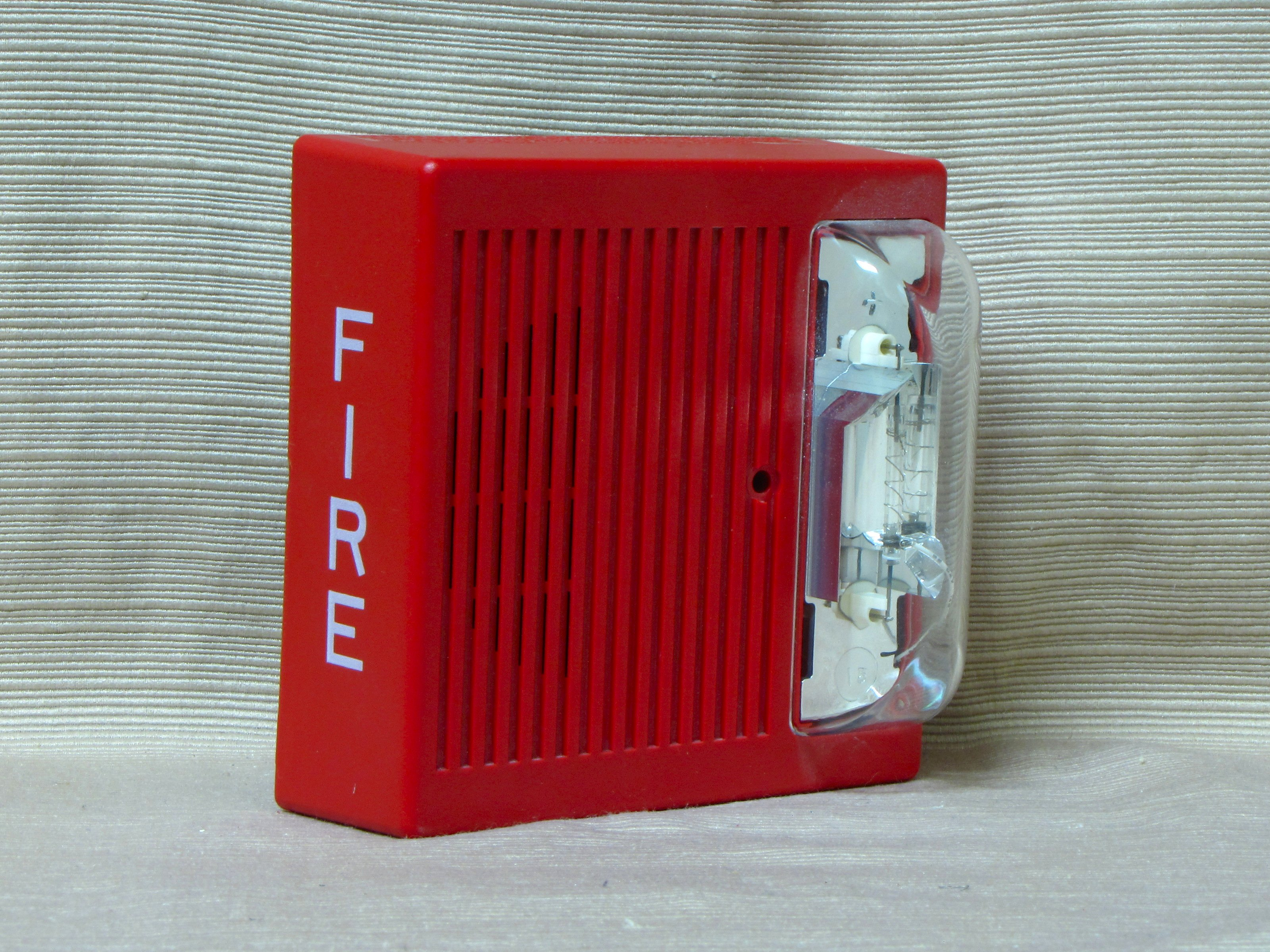 Wheelock As-24Mcw-Fr As-24Mcw Red Wall Mount Fire Alarm ...  |Wheelock Fire Alarm Horn Strobe