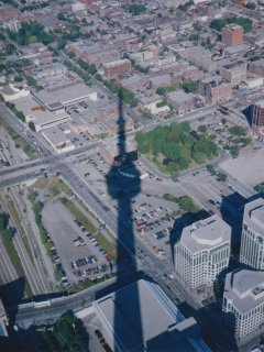 The CN Tower's great shadow...