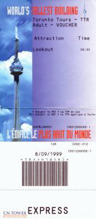 The CN Tower ticket