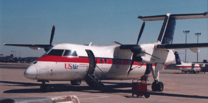 A Dash 8 in USAir colors