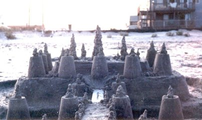 Sand castle that we did one year at Sea Isle City.