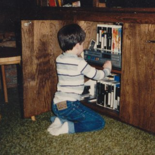 Even in my young age, I could work the VCR like a pro, even though by today's standards, this VCR was primitive (no remote!).