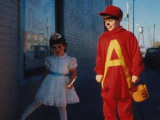 Doing a trick-or-treating event in downtown Rogers in 1988, Sis went as a fairy, and I went as Alvin the Chipmunk.