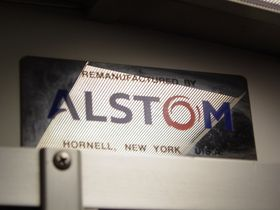 "Builder's plate: 2000 and 3000-Series cars contain a builder's plate at the cab end of the car that reads, ""Remanufactured by Alstom, Hornell, New York, USA""."