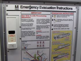 Emergency door release: The emergency door release, like all car types other than the 1000-Series, is flush with the wall. On the 2000 and 3000-Series, the cover is white, and has a small window.