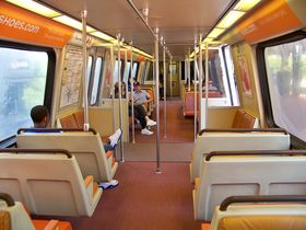 Interior: The 4000-Series has an interior layout identical to that of the 2000 and 3000-Series cars. All cars have the pinkish carpet used on the newer rail cars.