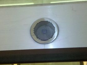 Exterior speaker: The exterior speaker is more pronounced in appearance on the 5000-Series, with the grille slightly protruding from the side of the car.
