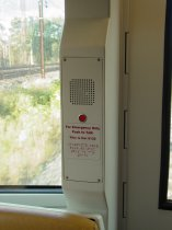 Emergency intercom: 5000-Series cars have a white intercom with a single button.  Signage does not glow in the dark.