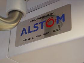 "Builder's plate: 6000-Series cars contain a builder's plate at the cab end of the car that reads, ""Manufactured by Alstom, Hornell, New York, USA""."