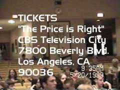 """If you would like to see The Price is Right in person..."""