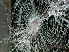 Broken glass, Afton Mountain Convenience Store