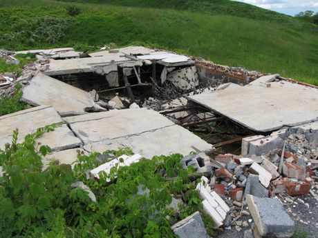 Remains of a demolished guest building.