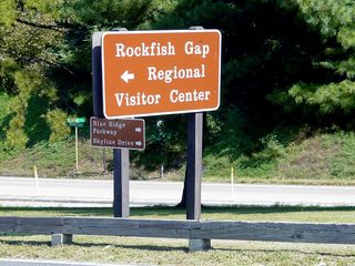 The only other sign of life in this cluster of businesses is the Rockfish Gap Tourist Information Center, which provides brochures about area attractions, provides driving directions, etc. Interestingly enough, and as something of a testament to the state of Afton Mountain, the tourist information center sits beneath a floor of abandoned motel rooms, likely once part of the nearby Skyline Parkway Motor Court.